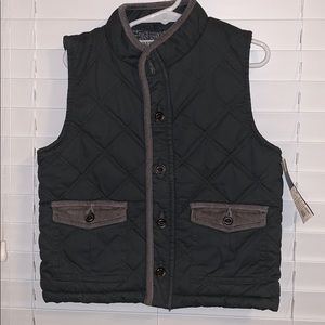 Boys button down vest